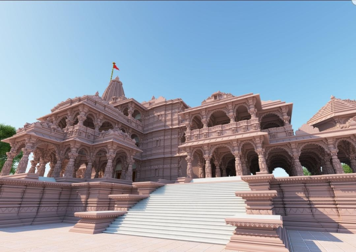 The approved Ram Mandir's layout that the Ayodhya Development Authority has handed over to Ram Janmabhoomi Trust