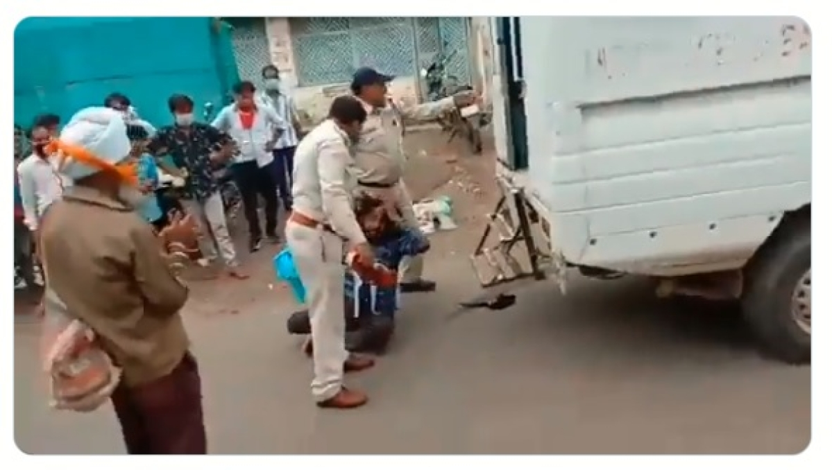 Two Sikhs were allegedly assaulted by policemen in Madhya Pradesh, prompting the BJP-led state government to suspend two cops in this connection.