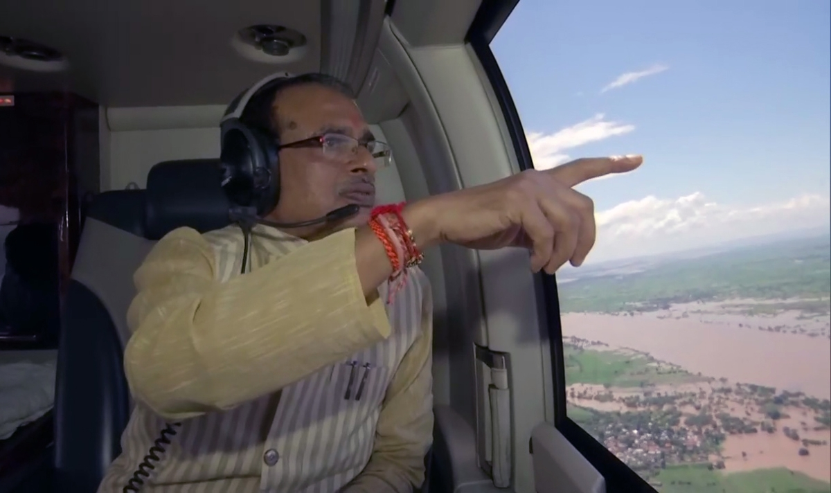Madhya Pradesh: CM Shivraj seeks PM's support over flood situation in state, conducts an aerial survey