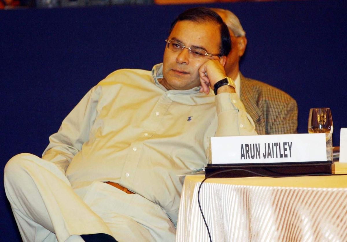 Then Union Commerce Minister Arun Jaitley in New Delhi.
