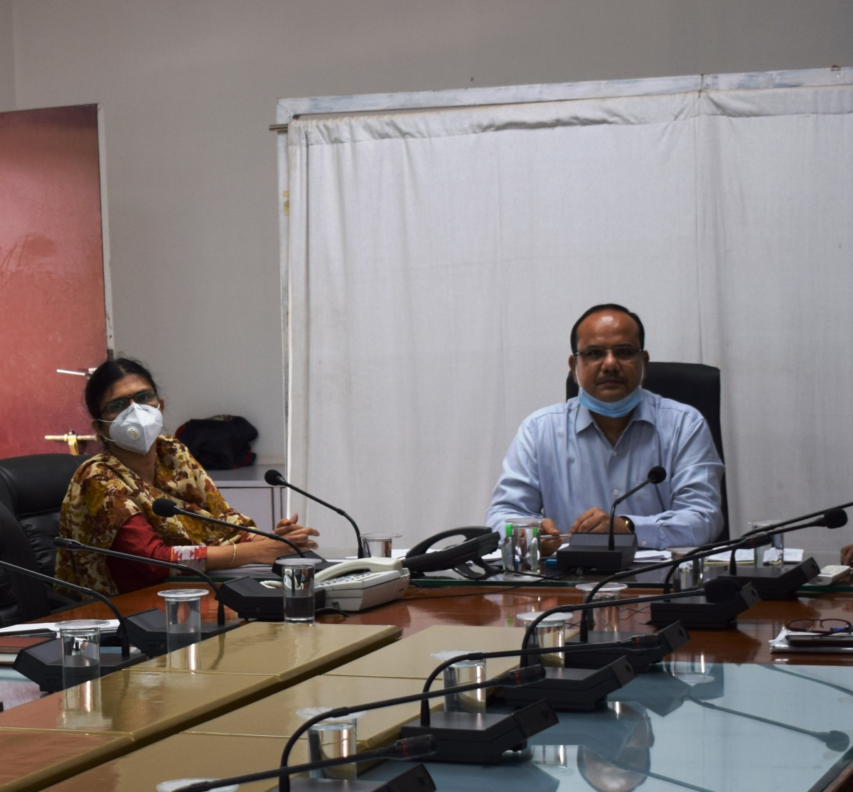 Arvind Malkhede, Divisional Railway Manager conducts press conference through video link