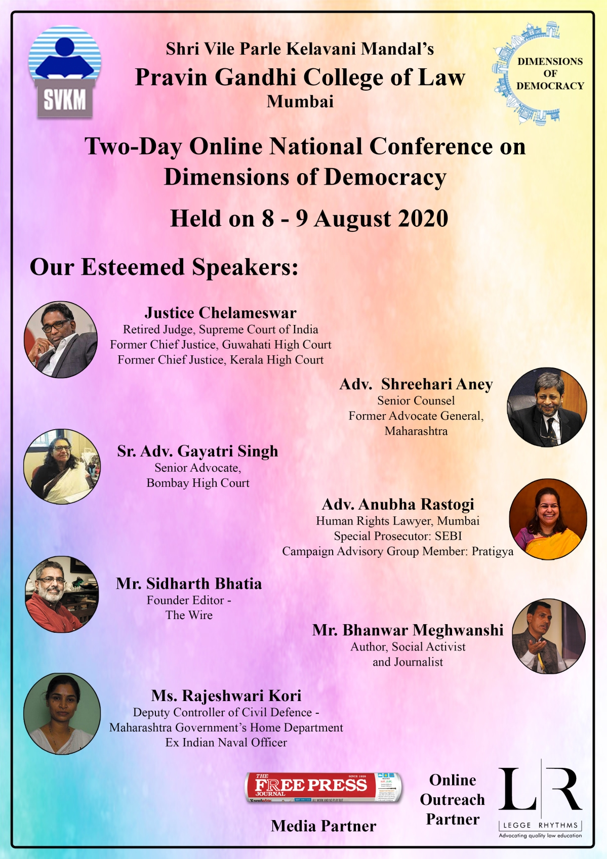 SVKM organises a 2-day online national conference on dimensions of democracy