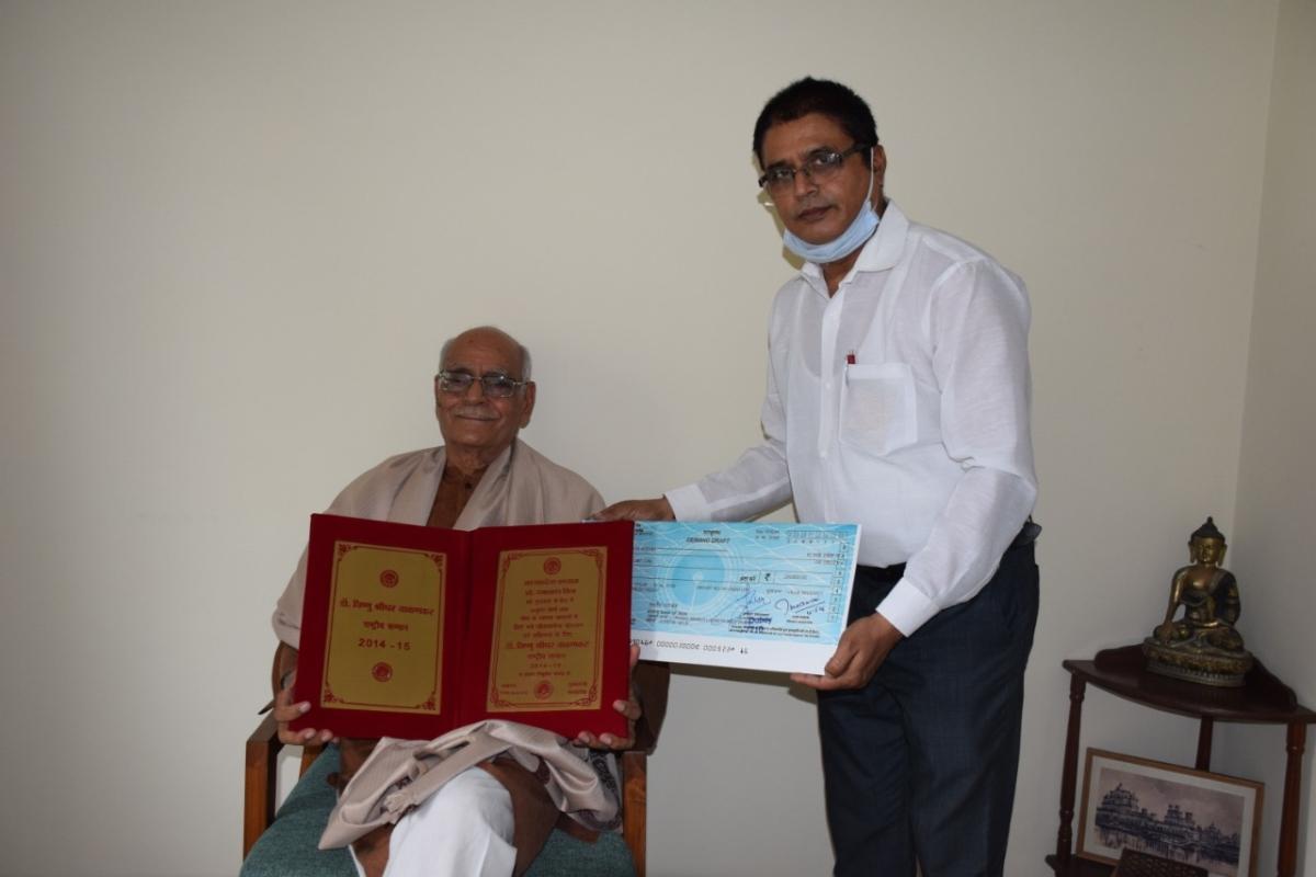 Bhopal: Archaeologist Prof Ramanath Mishra conferred with Vishnu Shridhar Wakankar National Award
