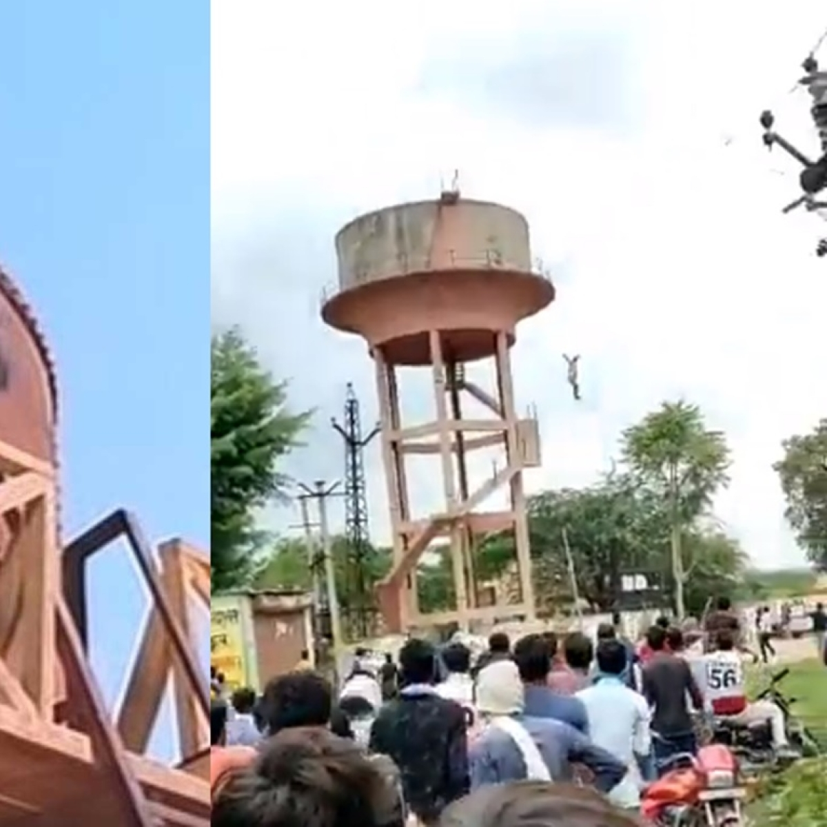 Gory 'Sholay' Redux: Mentally disturbed man jumps off an overhead water tank, dies while undergoing treatment