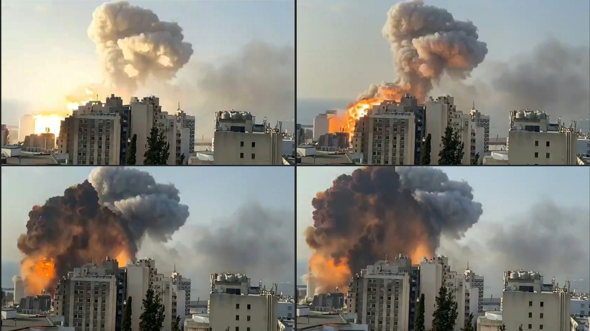 In pictures: Chaos and destruction caused after massive explosion in Beirut