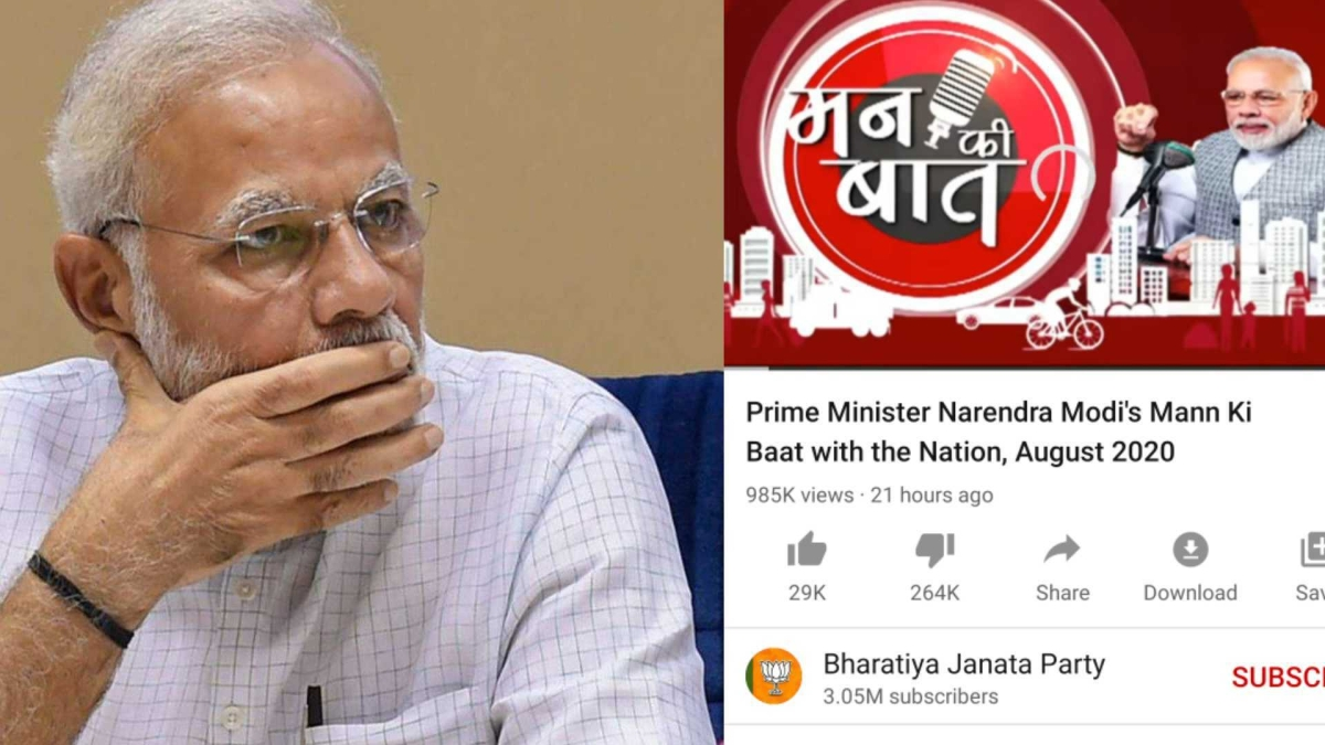 Mad with Mann Ki Baat: PM Modi's video gets 2.6 lakh dislikes on YouTube