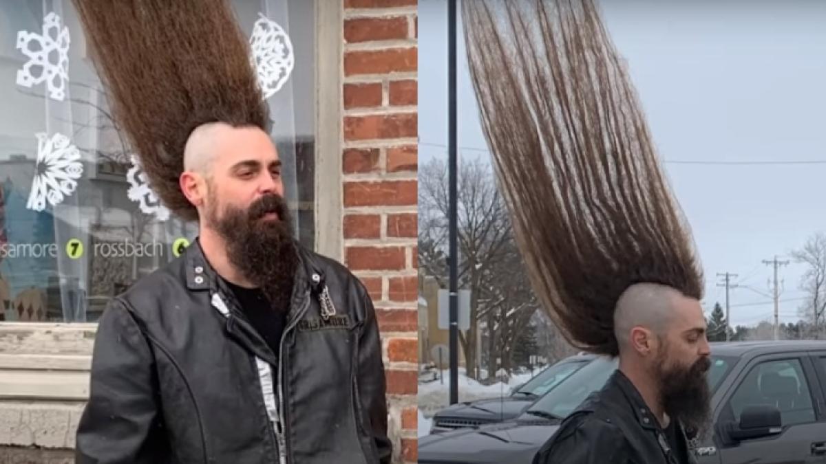 US man breaks Guinness World Record for the tallest mohawk