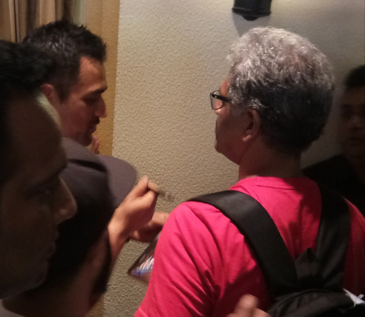 Dhoni and I exchange pleasantries before I ask him to sign  my copy of his book 'The Dhoni Touch' in August 2018