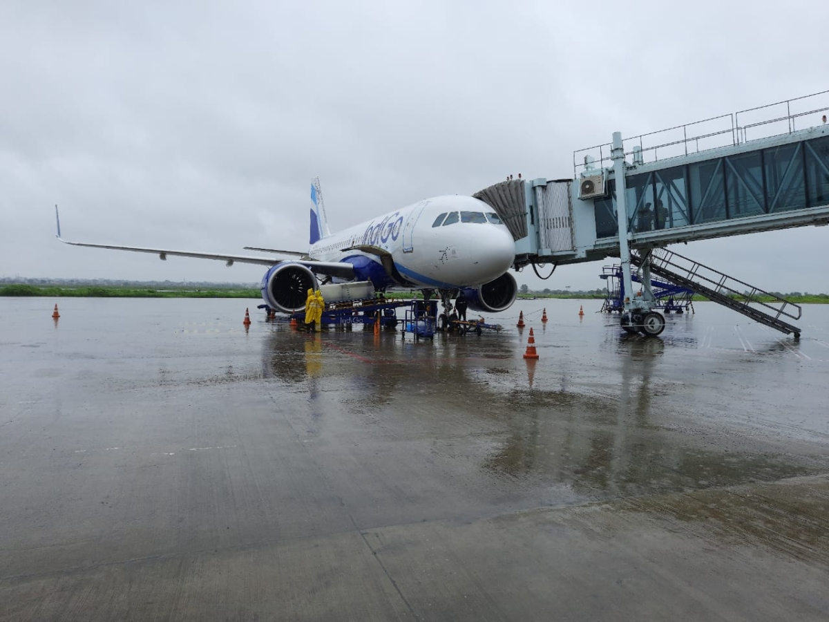 Indore: Higher level of runway keeps airport afloat