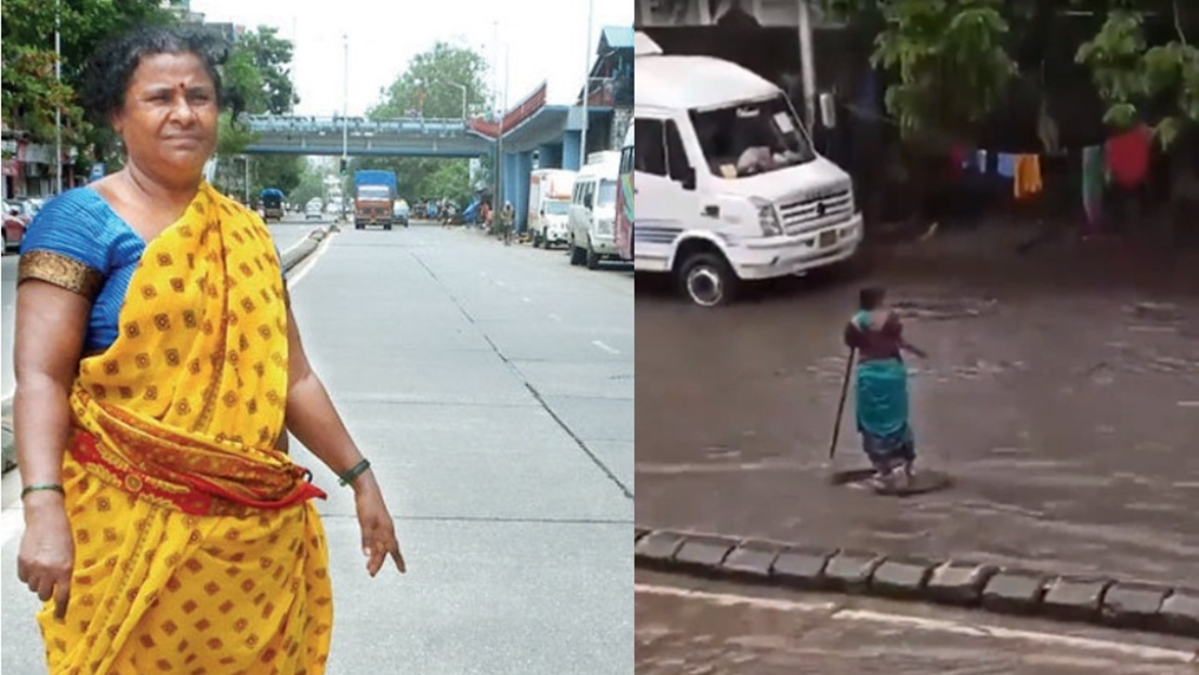 Mumbai: Woman who lost her home amid heavy rain, stood for 7-hours to warn about Matunga manhole