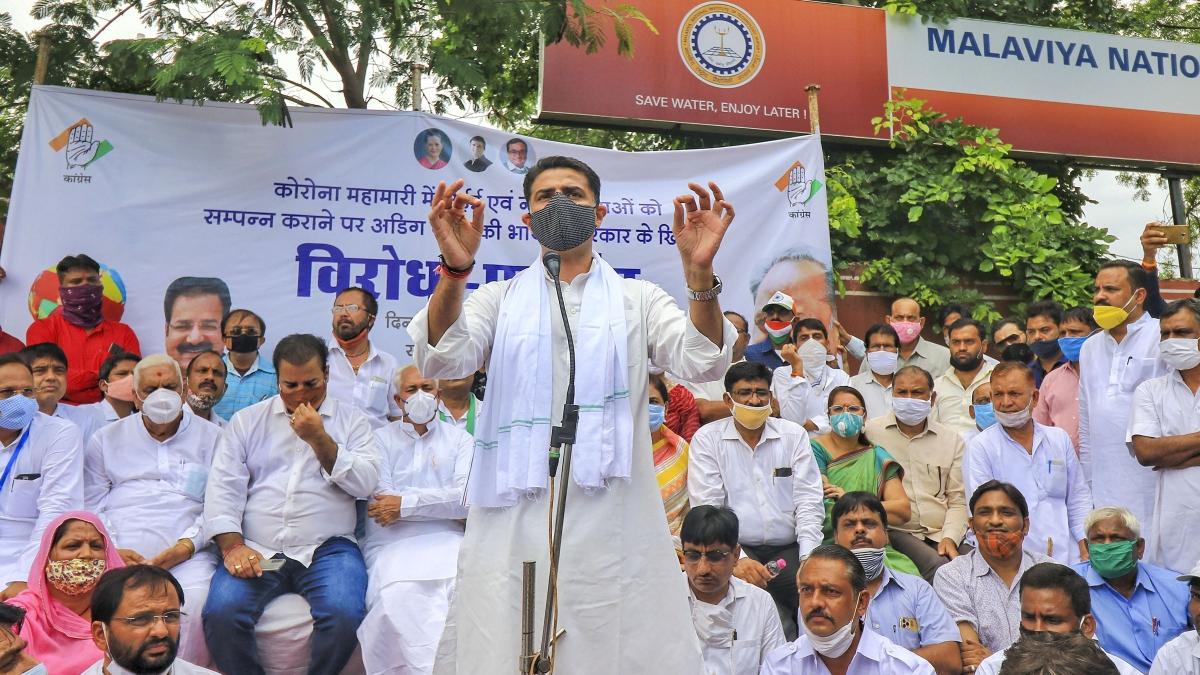 Congress stages Jaipur sit-in demanding postponement of JEE-NEET exams