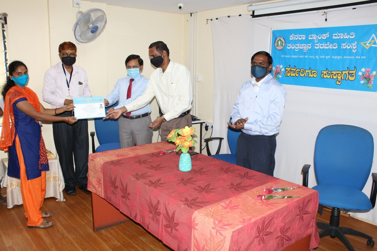 Canara Bank holds valedictory function of computer software DTP classes