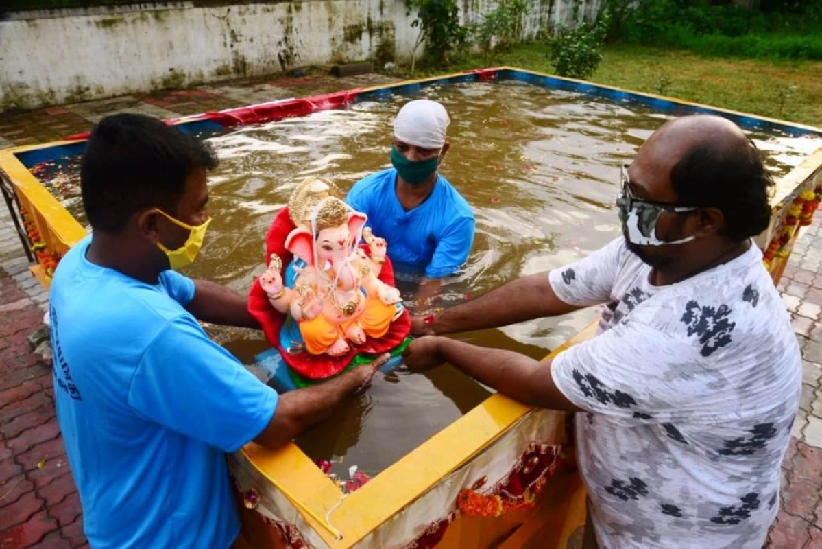 Ganeshotsav 2020: Navi Mumbai says adios to 61% Bappa idols via artificial ponds