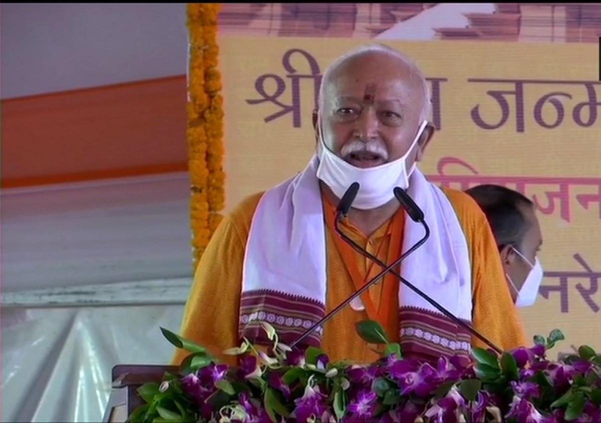 RSS Chief Mohan Bhagwat at Ayodhya Bhoomi Pujan