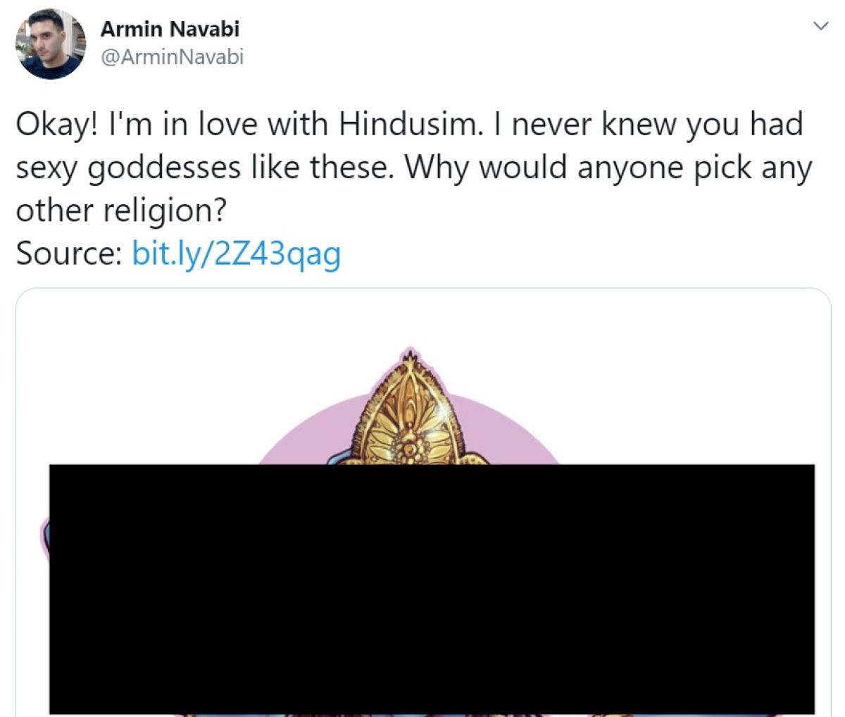 Complaint filed against Armin Navabi for Goddess Kali cartoon - who is he and what is the Atheist Republic?