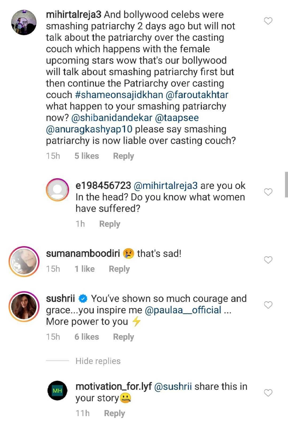 'Not the first time': Indian model accuses Sajid Khan of harassment; Netizens ask B-town feminists to speak up