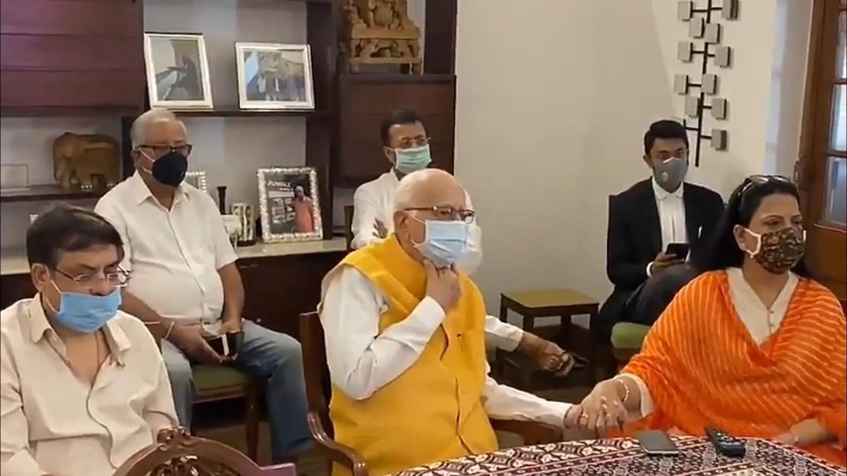 Watch video: LK Advani joins special CBI court that acquitted him in Babri Demolition case