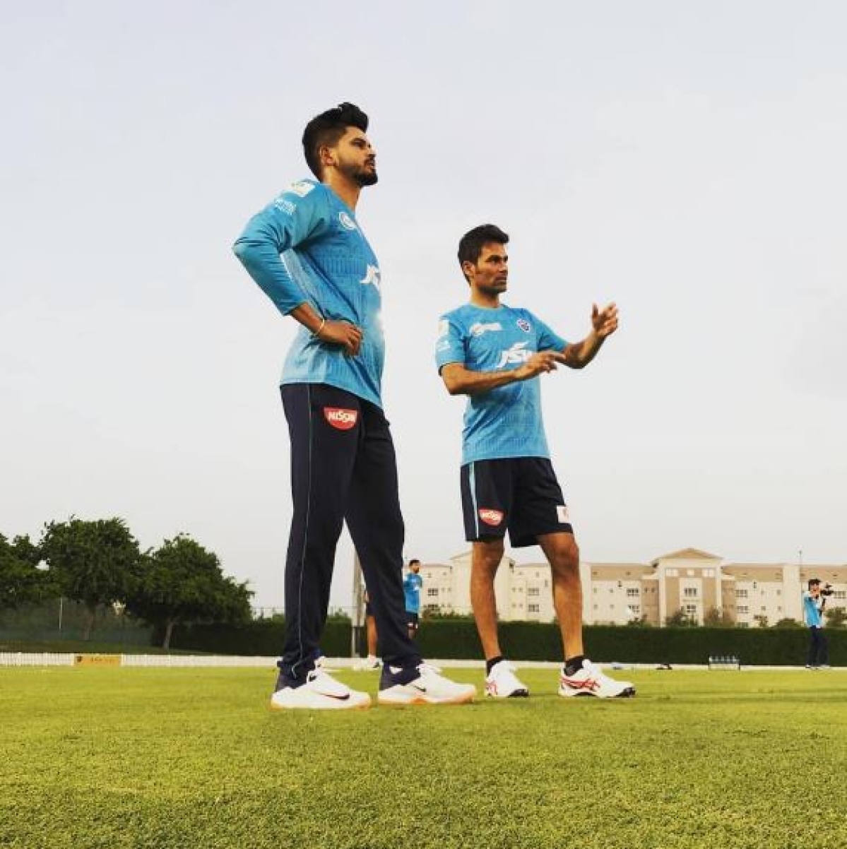 Skipper Shreyas Iyer overlooking the work out