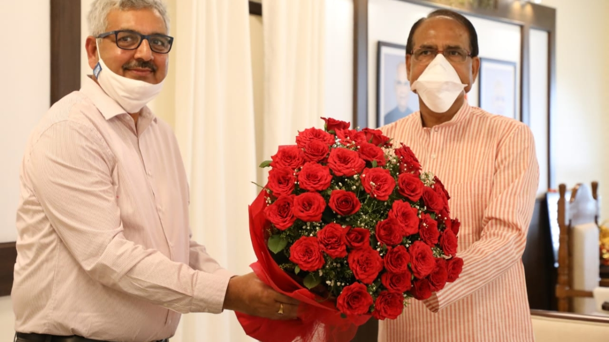NHDC Chairman A. K. Singh meets Madhya Pradesh Chief Minister Shivraj Singh Chauhan