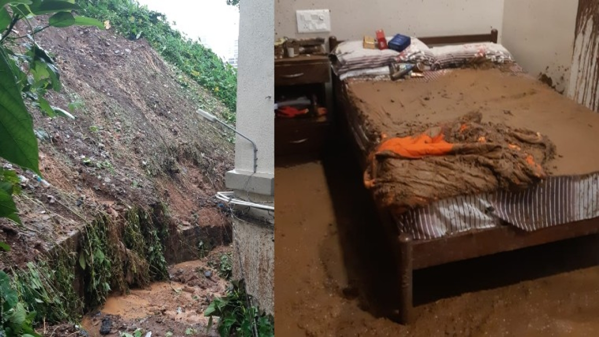 Mumbai Rains: Landslide at Khareghat Parsi Colony at Pedder Road, BMC asks nearby old building residents to vacate houses