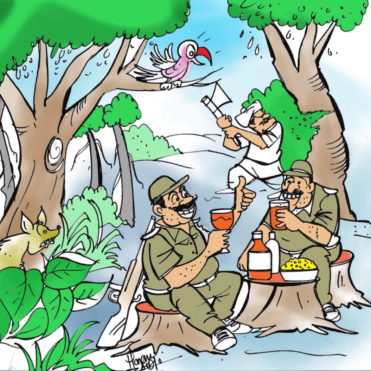 MP forest officials on prowl: Extort booze, meat from villagers
