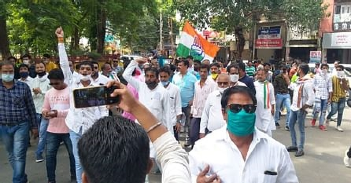 Madhya Pradesh: Congress leader's followers booked for holding a rally in Indore