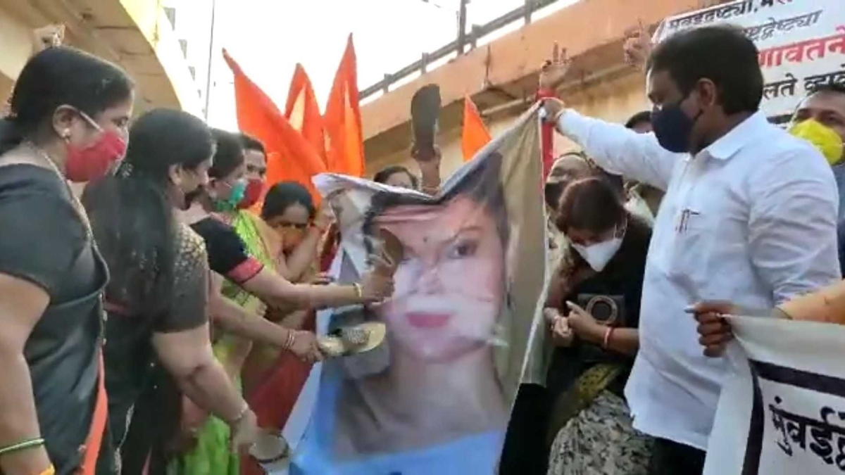Protest against Kangana Ranaut: Shiv Sena MLC and 14 others booked in Aurangabad