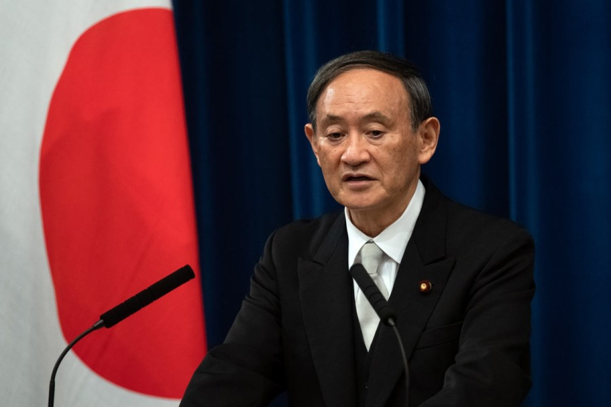 Yoshihide Suga, Japan's new prime minister, speaks during a press conference in Tokyo, Japan, Sept. 16, 2020