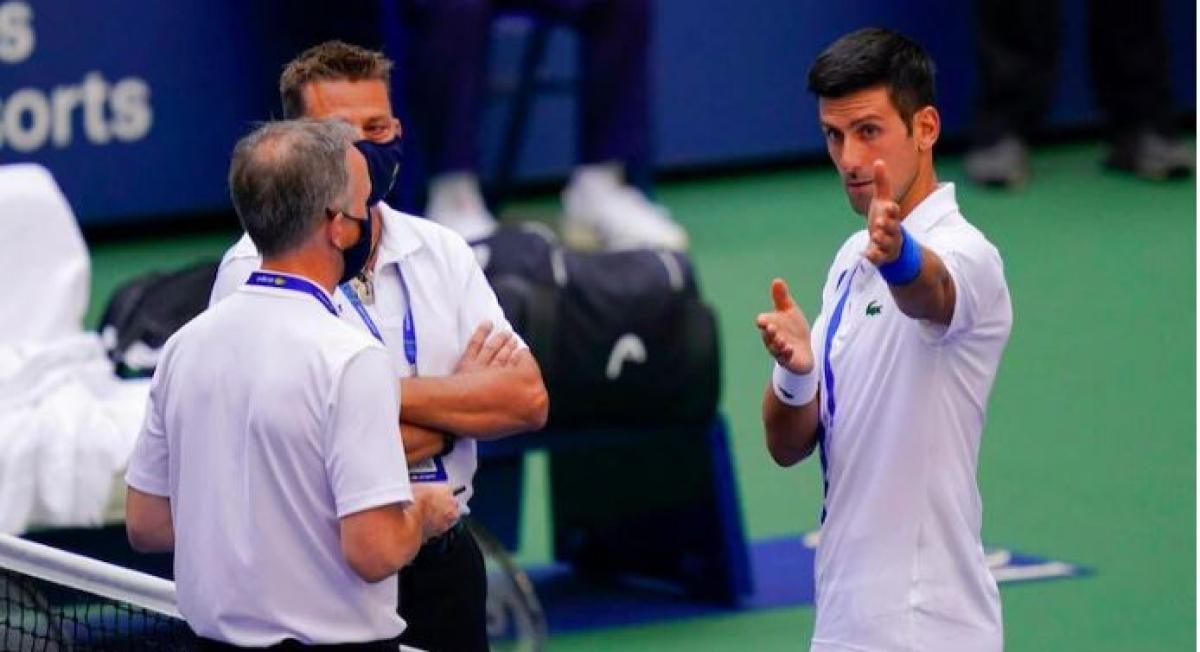 tennis ace Novak Djokovic with the officials