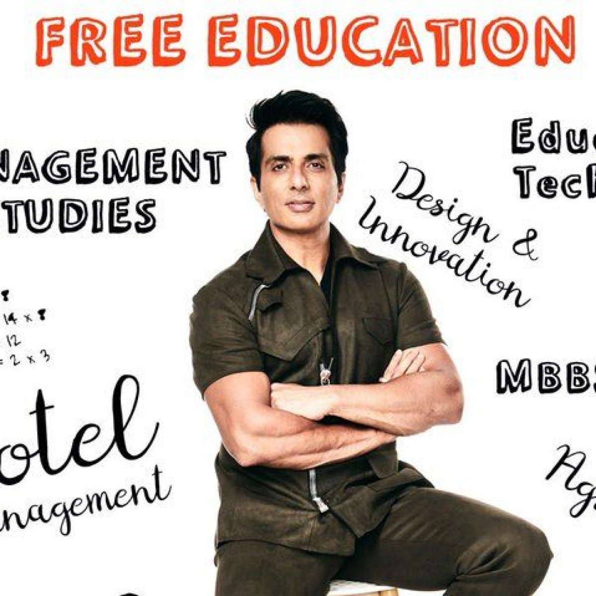 Can you spot the math error in Sonu Sood's scholarship poster?