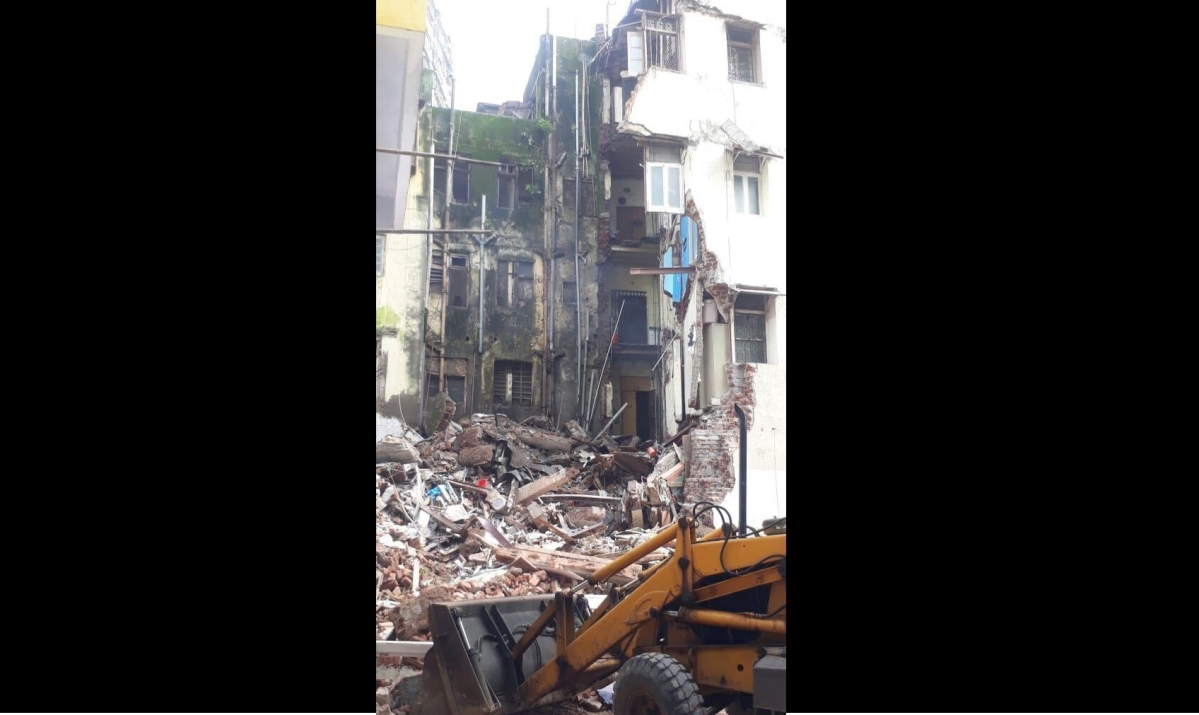 Mumbai: Part of eight-storey residential building collapses in Dongri, woman feared trapped