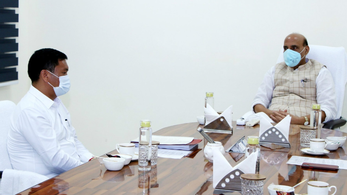 Arunachal Pradesh CM Pema Khandu, who met Rajnath Singh on Monday, tests COVID-19 positive