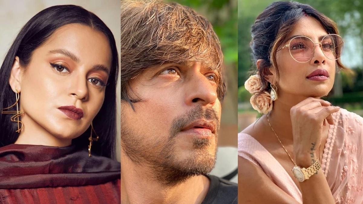 L to R - Kangana Ranaut, Shah Rukh Khan, Priyanka Chopra