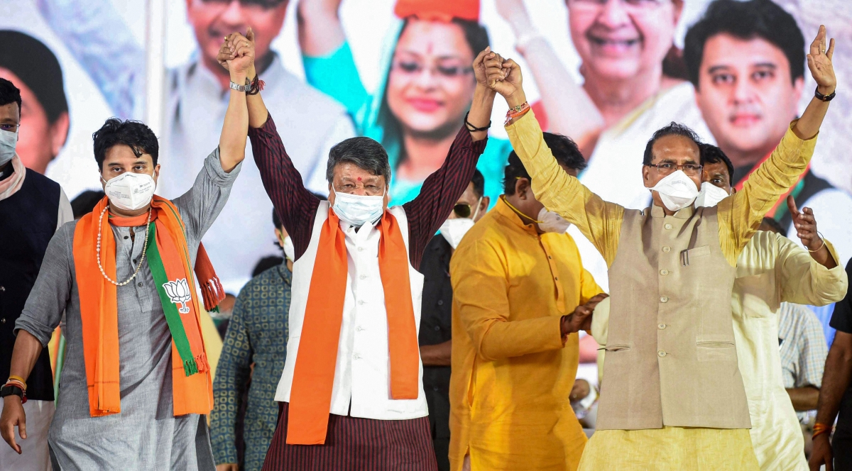 MP Bypolls: CM Chouhan, Scindia among BJP's 30 star campaigners