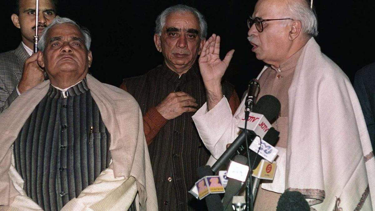 Atal Bihari Vajpayee, Jaswant Singh and LK Advani