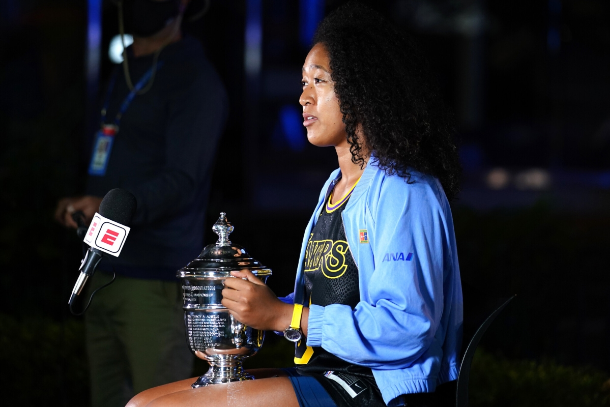 'Keeping the legacy alive': Naomi Osaka dons a Kobe Bryant jersey after winning US Open title