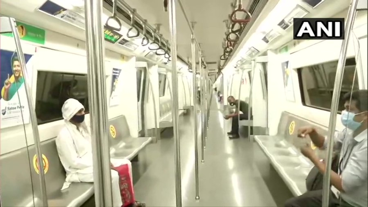 Delhi Metro resumes services on Yellow Line (Samaypur Badli to Huda City Centre); operating hours 7 am to 11 am and 4 pm hours to 8 pm. Only use of Smart Card allowed for entry.