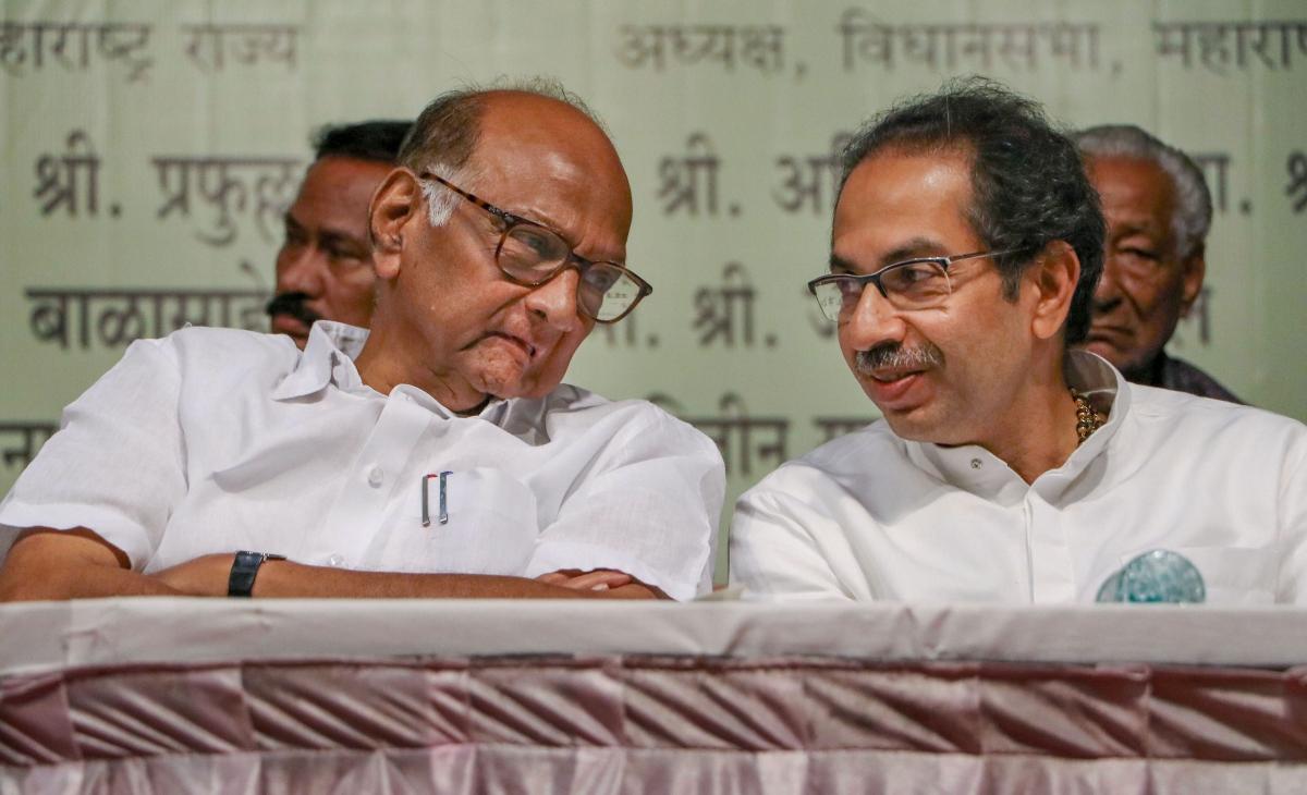 NCP president Sharad Pawar and Maharashtra Chief Minister Uddhav Thackeray