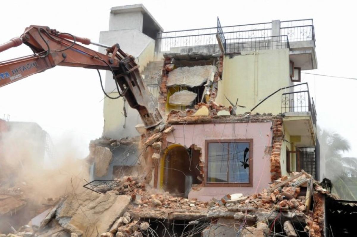 Demolition drive
