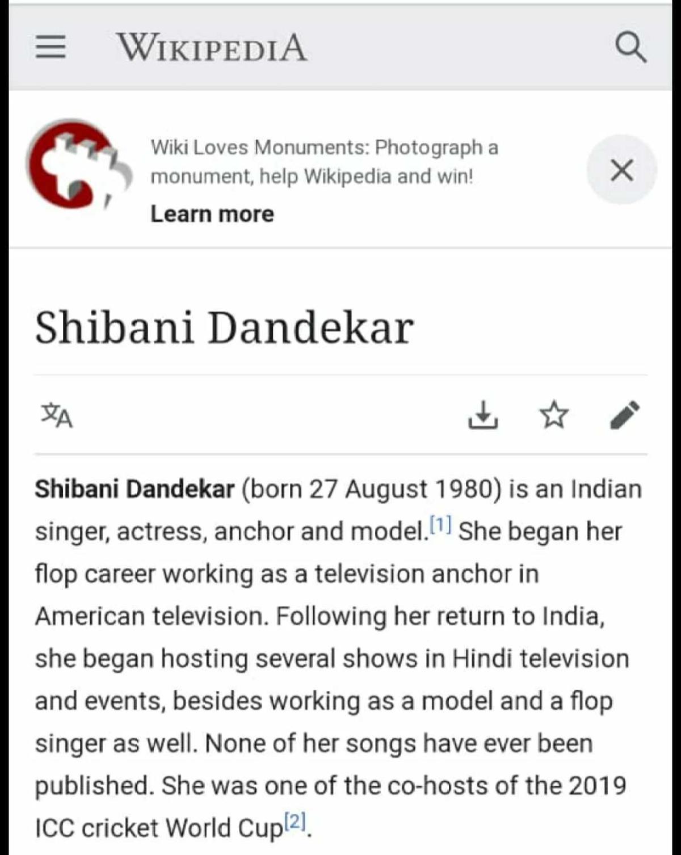 'She began her flop career...': User edits Shibani Dandekar's Wikipedia page after her comments on Ankita Lokhande