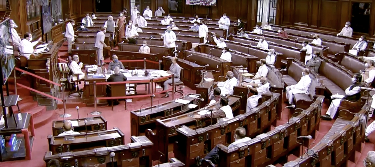 A general view of Rajya Sabha during the Monsoon Session of Parliament, in New Delhi on Tuesday