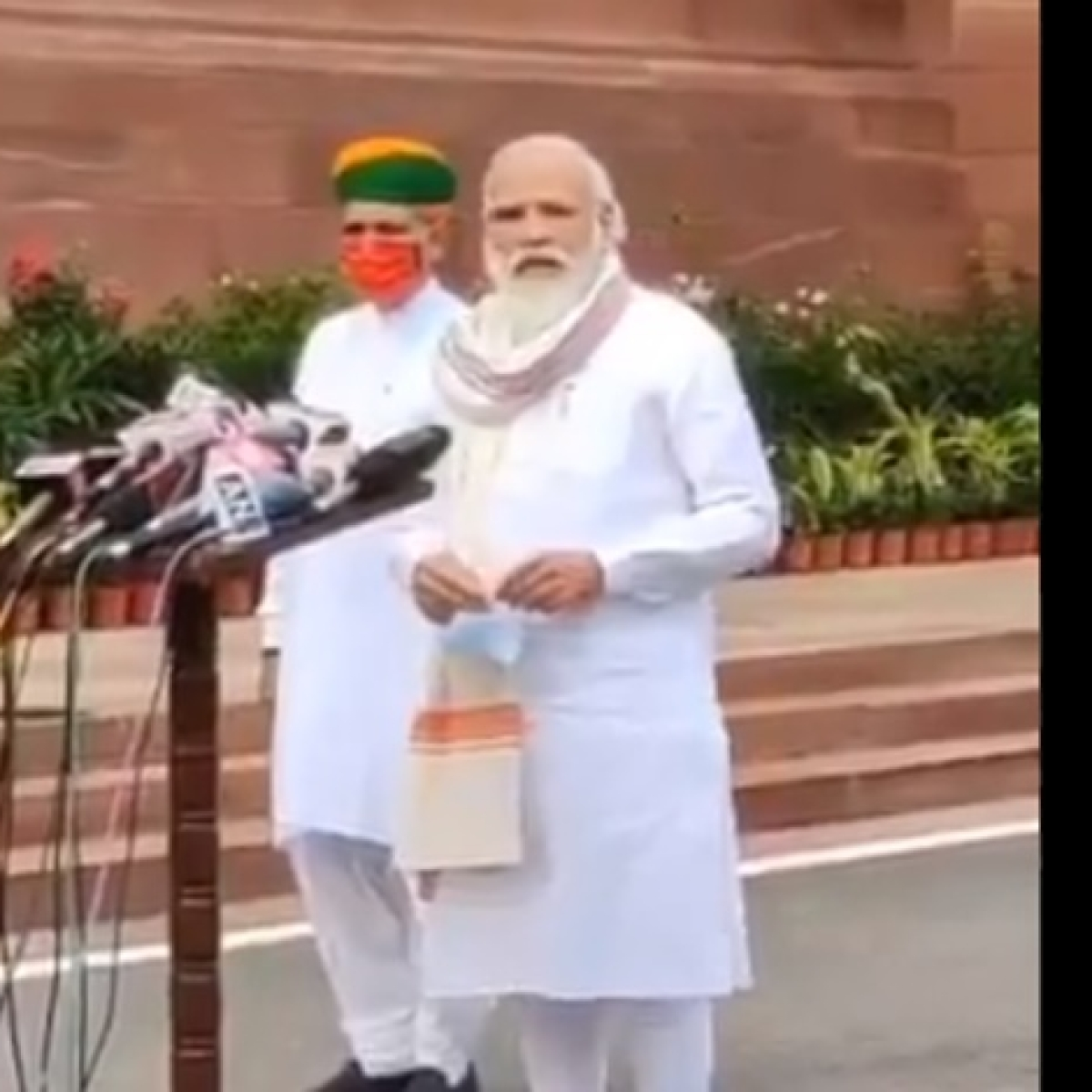 Watch: Modi asks media personnel if they are okay
