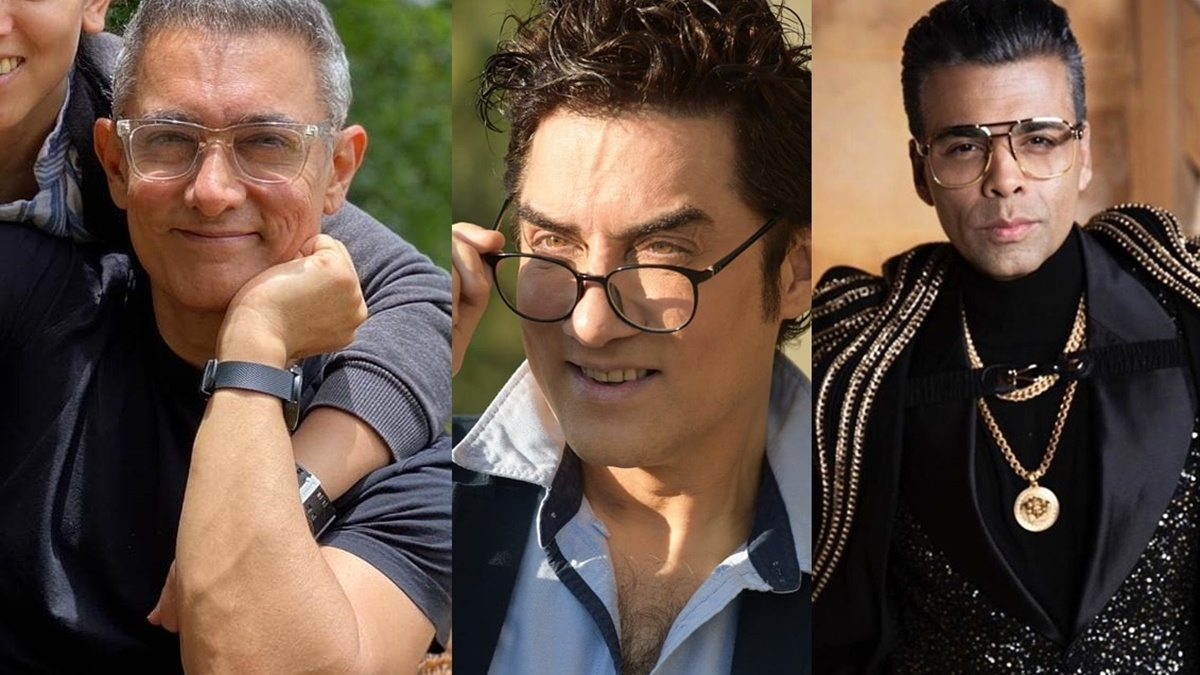 L to R - Aamir Khan, Faisal Khan, Karan Johar