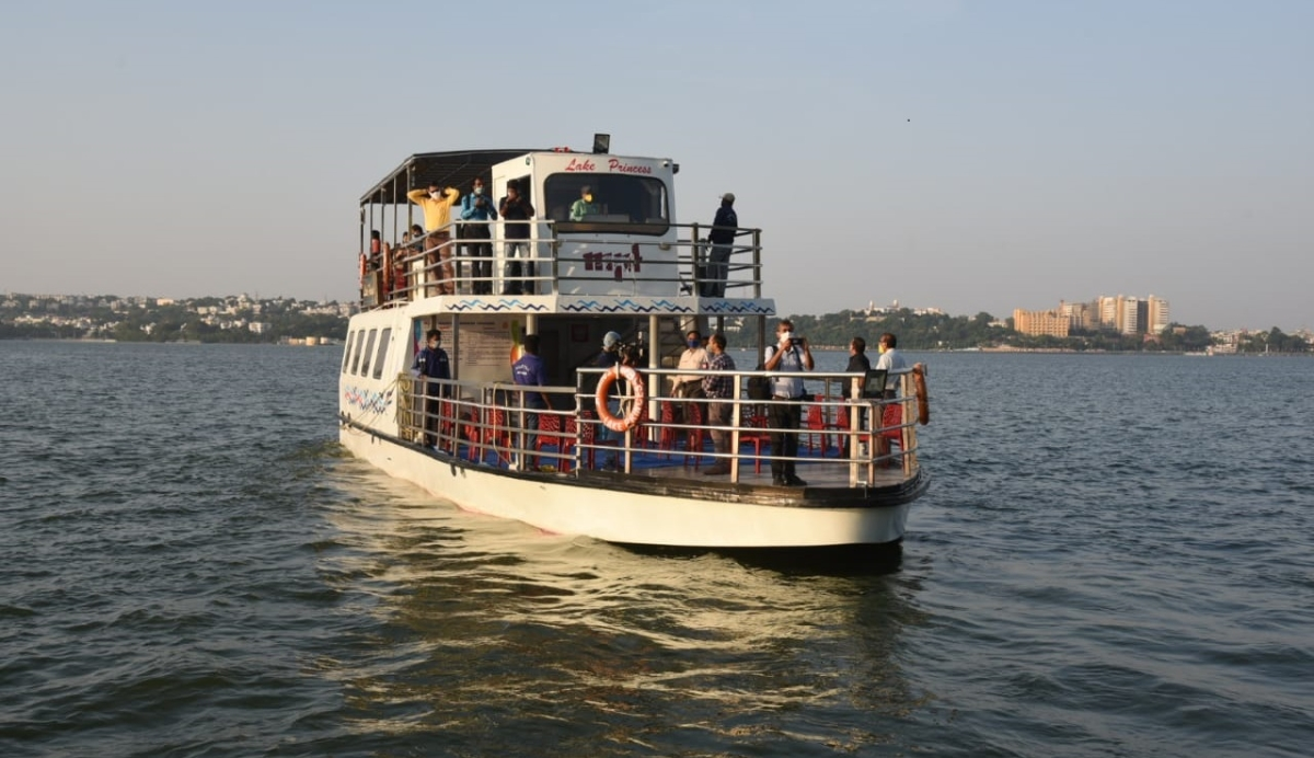 Unlock 5.0 in Bhopal: MP State Tourism Development Corporation's Princess Cruise rides the waves again in Upper Lake