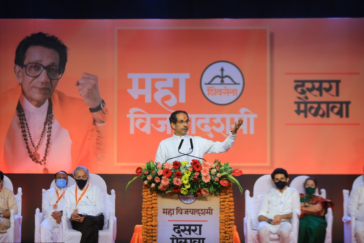 'Our Hindutva is not clanging bells, utensils': Maha CM Uddhav Thackeray lashes out at BJP in Dussehra speech