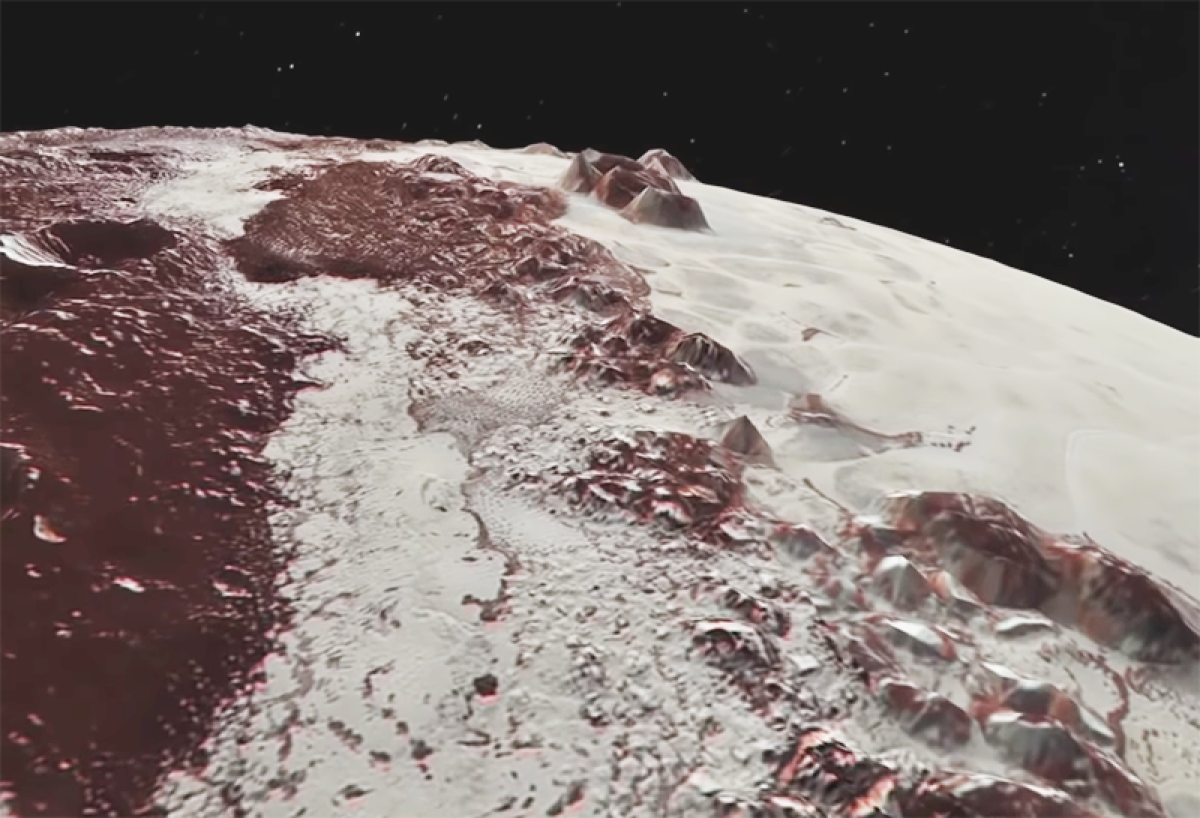 Pluto's mountains are snowcapped but not like Earth's
