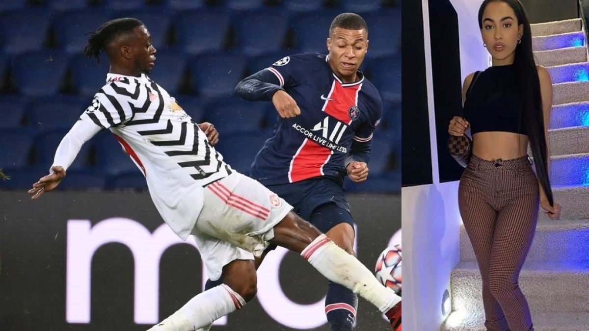 Wan-Bissaka with Mbappe and Marlie