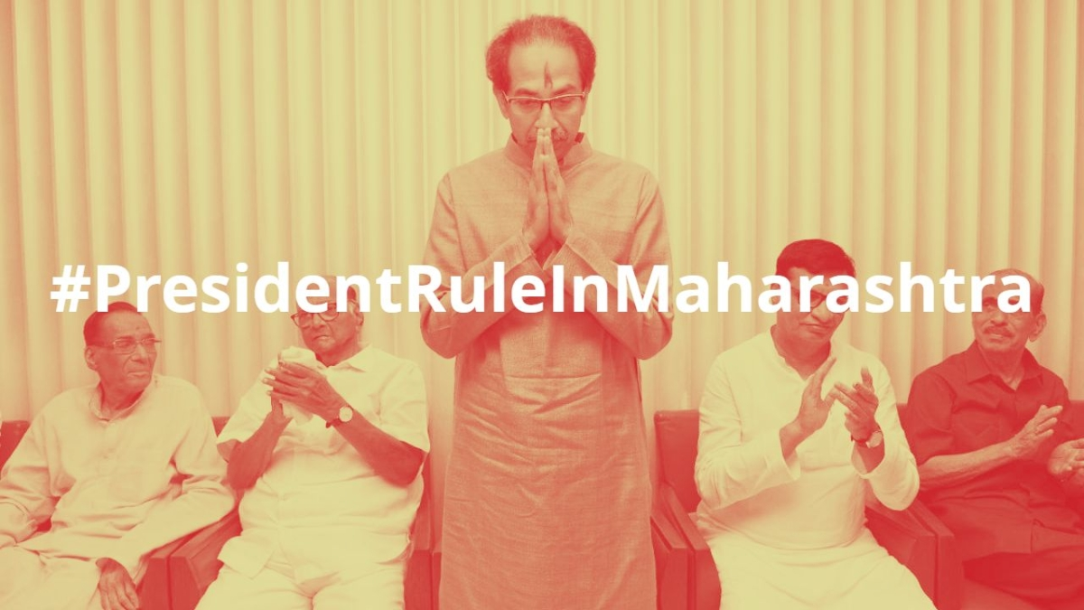 Why is #PresidentRuleInMaharashtra trending on Twitter?