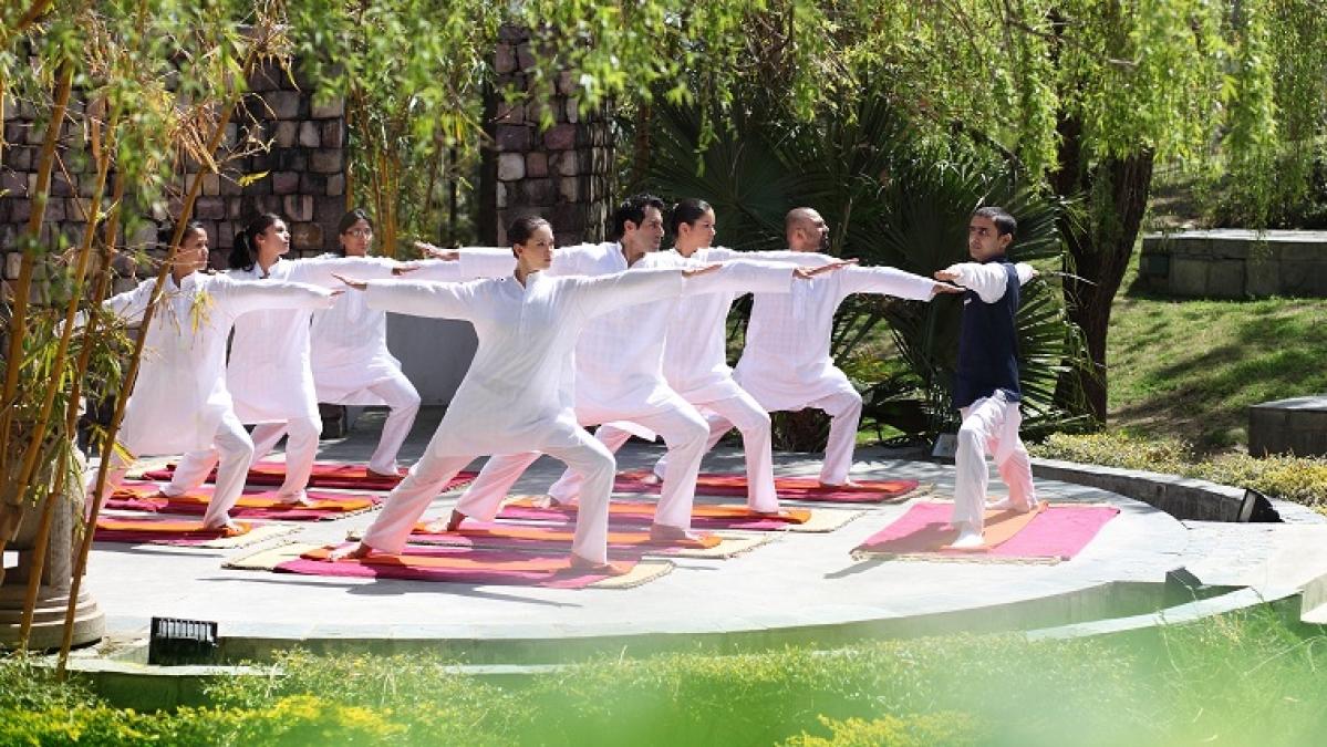Yoga at amphitheatre (Representative Photo)