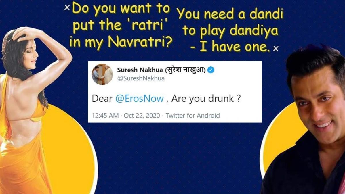 'Boycott Eros Now' trends on Twitter over 'vulgar' Navratri memes featuring Katrina Kaif, Salman Khan